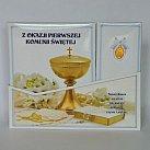 Pamiątka z okazji Pierwszej Komunii Świętej (niebieska) tryptyk