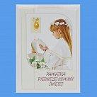 Pamiątka Pierwszej Komunii Świętej (dziewczynka) 15x21