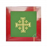 Bielizna kielichowa Krzyż Jerozolimski zielona
