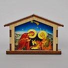 Szopka na Boże Narodzenie niebieska