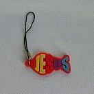 Zawieszka do komórki, czerwona rybka