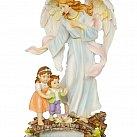 Figurka Anioł Stróż Na Kładce 30 cm