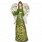 Figurka Anioł zielono-złoty stojący