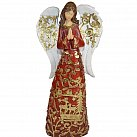 Figurka Anioł bordowo-złoty stojący