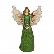 Figurka Anioł zielony stojący
