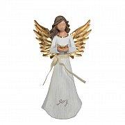 Figurka Anioł biało-złoty