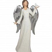 Figurka Anioł biały stojący
