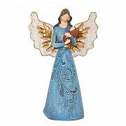 Figurka Anioł niebieski mniejszy
