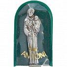 Figurka św. Antoniego w zielonym etui
