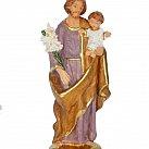 Figurka św. Józef 16 cm fioletowy