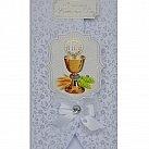 Karnet Pamiątka Pierwszej Komunii Świętej kryształek