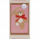 Karnet Witaj na świecie różowy
