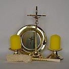 Komplet kolędowy metalowy pręt złoty