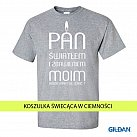 Koszulka Męska Pan światłem jasnoszara