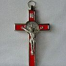 Krzyż św. Benedykta czerwony 12,5 cm