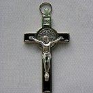 Krzyż św. Benedykta 7 cm czarny