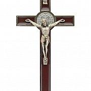Krzyż św. Benedykta 20 cm brązowy
