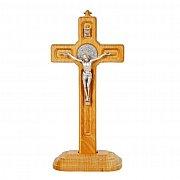 Krzyż św. Benedykta wisząco-stojący 15 cm