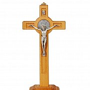 Krzyż św. Benedykta wisząco-stojący 25 cm