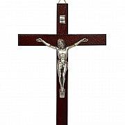 Krzyż drewniany ciemny 49 cm