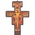 Krzyż franciszkański bukowy 45 cm ciemny