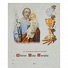 Obrazek do Pierwszej Komunii Świętej, św. Józef i Jezus, wzór nr 79
