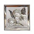 Obrazek srebrny ANIOŁ STRÓŻ Z LATARENKĄ