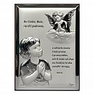 Obrazek srebrny Aniołek Dziecko modlitwa