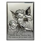 Obrazek srebrny Aniołek modlitwa