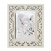 Obrazek srebrny ANIOŁEK Z LATARENKĄ ażurowy
