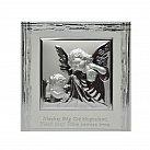 Obrazek srebrny ANIOŁ STRÓŻ Z LATARENKĄ ramka