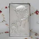 Pamiątka Pierwszej komunii świętej Obrazek srebrny