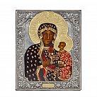 Ikona święta Matka Boska Częstochowska metalowa