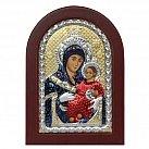 Ikona srebrna Matka Boża z Betlejem w drewnianej ramce
