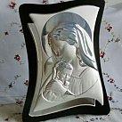 Obrazek srebrny MATKA BOSKA Z DZIECIĄTKIEM 26x34