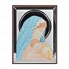 Obrazek srebrny MATKA BOSKA Z DZIECIĄTKIEM kolor