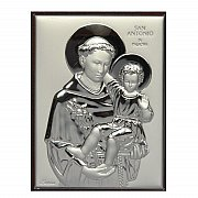 Obrazek srebrny św. Antoni 8x11