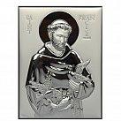Obrazek srebrny św. Franciszek 8x11 cm