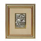 Obrazek srebrny ŚWIĘTA RODZINA ramka złota