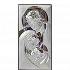 Obrazek srebrny Święta Rodzina pionowa