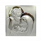 Obrazek srebrny ŚWIĘTA RODZINA w kwadracie