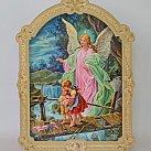 Obrazek na drewnie Anioł Stróż 13 x 10 kładka