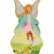 Anioł na drewnie Wiosna