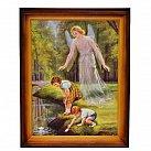Obrazek Anioł Stróż  z dziećmi 30x40 nad wodą