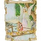 Obrazek na drewnie Anioł Stróż 14 x 9,5