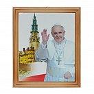 Obrazek w ramce Ojciec Święty Franciszek 20x25