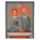 Obrazek z ikoną św. Ludwika i Zelii Martin
