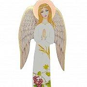 Anioł na drewnie duży kłosy