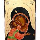 Ikona Matka Boska Czuła ciemna 30x40