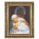 Obraz Jan Paweł II (ozdobna rama)